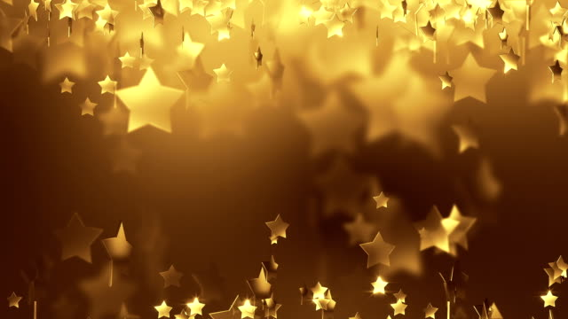 Gold Star Particle Background (Loopable) video