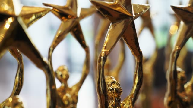 Gold star trophy. Gold star trophy. incentive stock videos & royalty-free footage