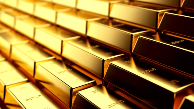 Gold Gold bars close up loop animation. Money, richness, wealth and bank reserve concept. gold bars stock videos & royalty-free footage