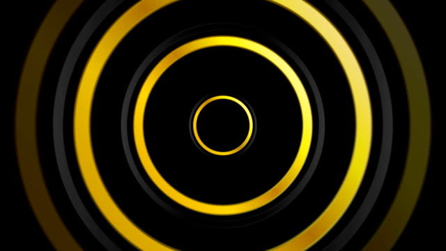 Golden and black abstract circles video animation video