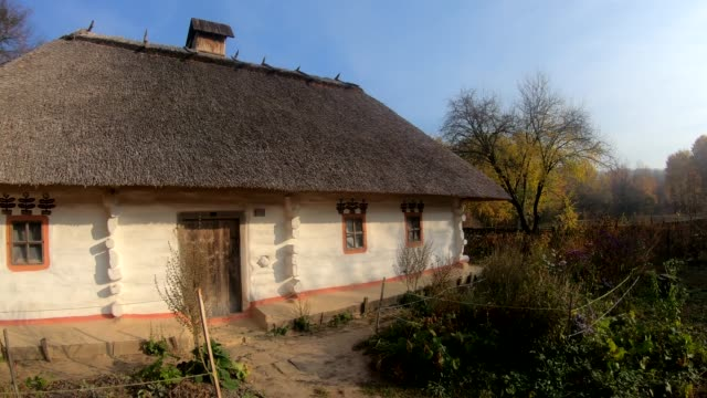 golden autumn in a ukrainian village. - ukraina filmów i materiałów b-roll