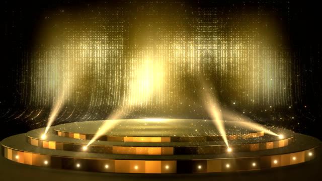 hintergründe für golden awards - preis stock-videos und b-roll-filmmaterial