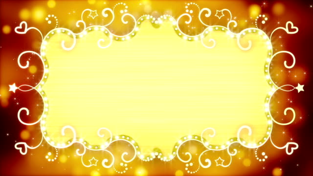 golden casino banner loopable animation video