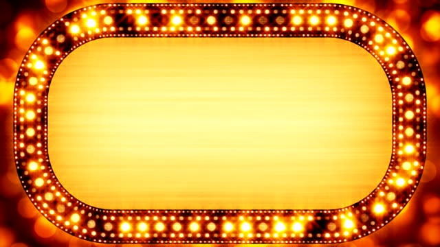 golden casino neon banner loopable video