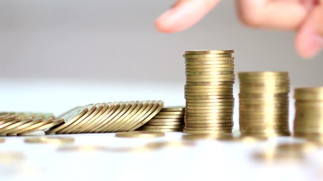 golden coins arranged as a graph video