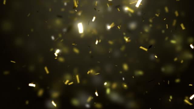 Golden Confetti falling down video