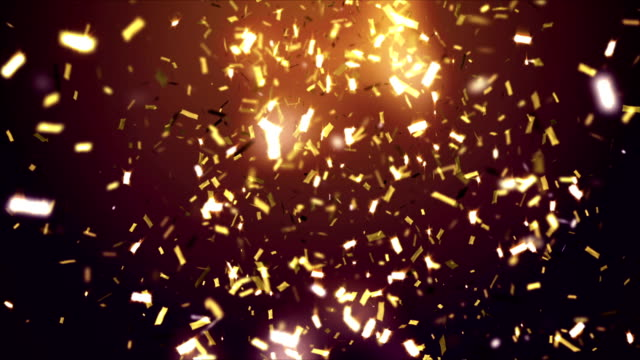 Golden confetti falling video
