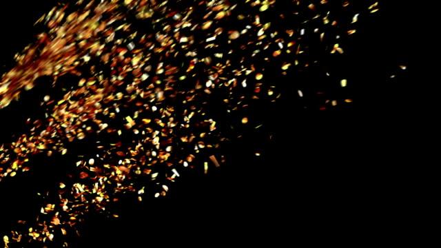 Explosions de Party Popper confettis or - Vidéo