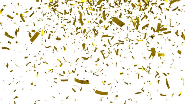 Golden confetti Golden confetti, 3d animation carnival celebration event stock videos & royalty-free footage