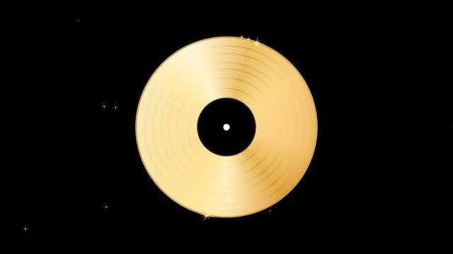 Golden disc rotation video