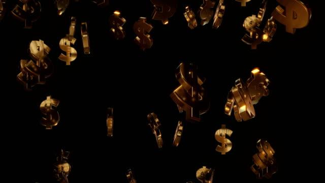 Goldener Dollar-Symbole | Tragbar – Video