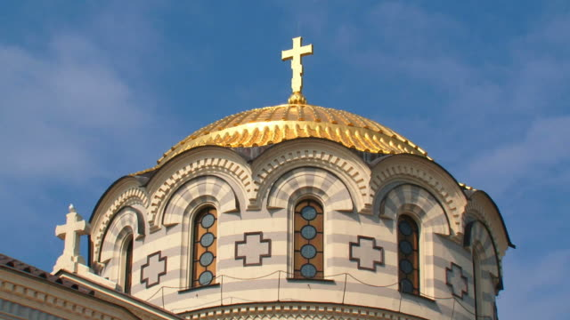 golden dome of the church video