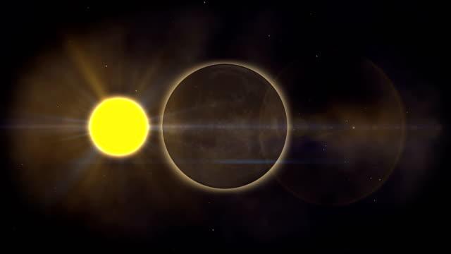 Golden eclipse moon video