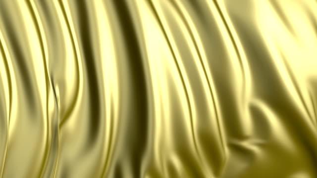 風に進化する黄金旗 - 布点の映像素材/bロール