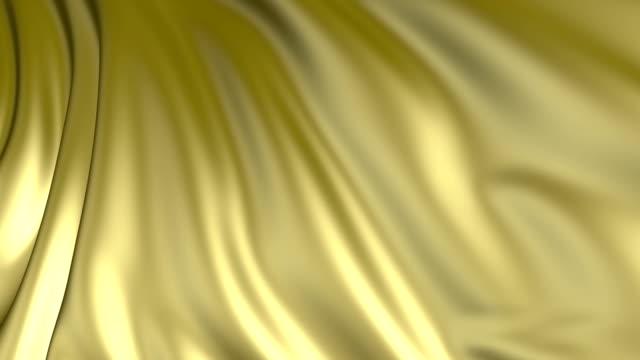 Golden flag evolving in the wind