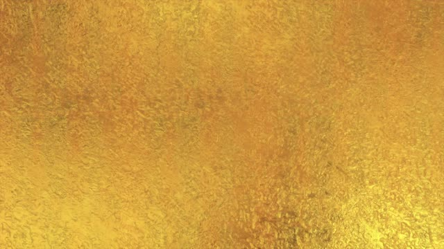 Golden foil background. Gold texture 3D rendering loop 4k