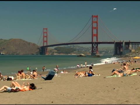 Golden Gate Bridge and Beach video