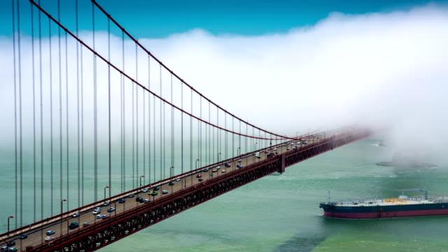 golden gate bridge and freighter - realtid bildbanksvideor och videomaterial från bakom kulisserna