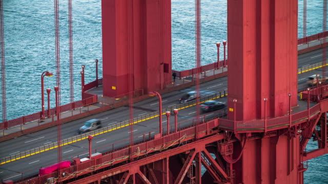 golden gate-bron close up - 4k stadsbilder, landskap & establishers - realtid bildbanksvideor och videomaterial från bakom kulisserna