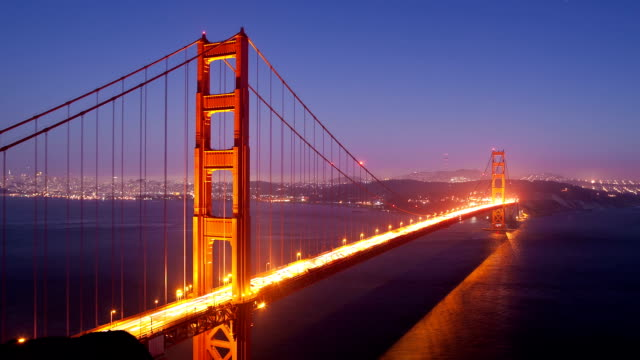 Golden Gate Bridge Day to Night video