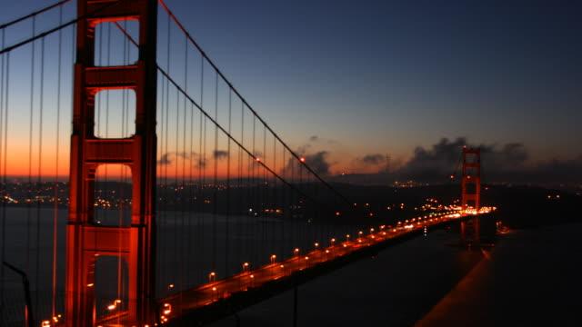Golden Gate Bridge Sunrise Time Lapse video