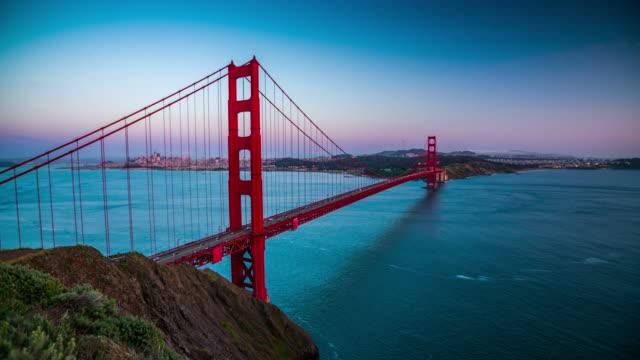 Golden Gate Bridge Sunset San Francisco California USA - 4K Cityscapes, Landscapes & Establishers video