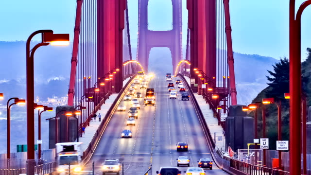 Golden Gate Bridge Time Lapse Zoom - vídeo