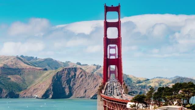 golden gate köprüsü rating zaman atlamalı san francisco - trafik zaman atlatma stok videoları ve detay görüntü çekimi