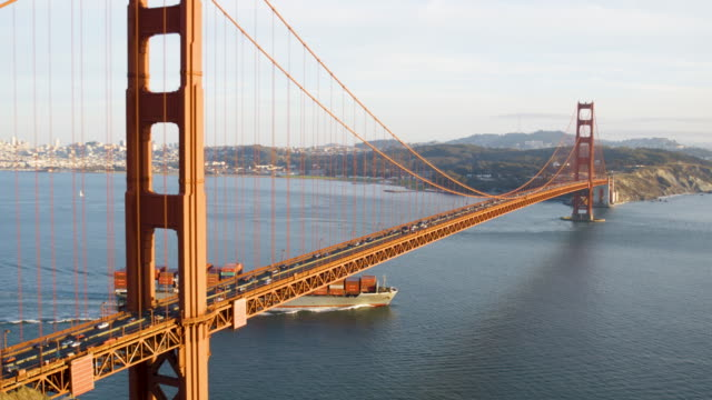 golden gate bridge - nave mercantile video stock e b–roll