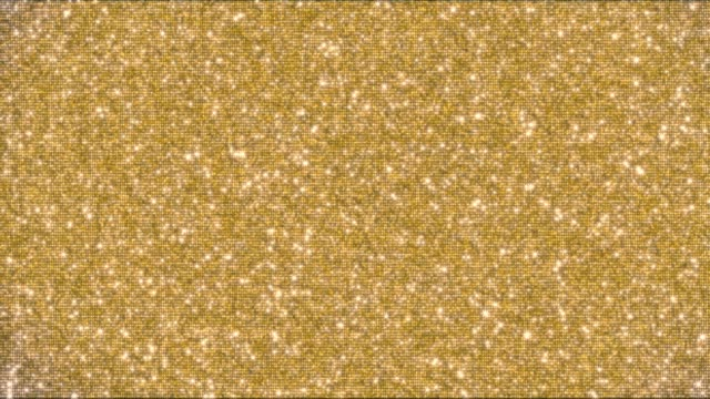 Golden glitter background and sparkles animation 4k