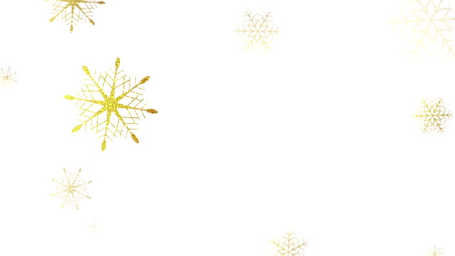 golden glitter falling snowflakes christmas clip - snowflake background stock videos & royalty-free footage