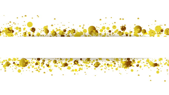 Golden glitter round particles video animation video