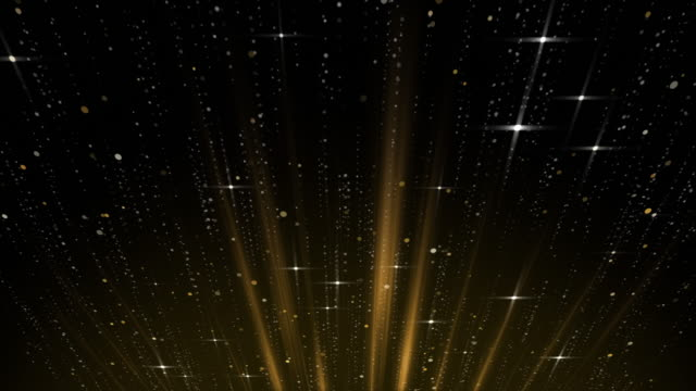 golden glitter twinkling abstract magic moment background, gold twinkle floating, drifting around with glow line