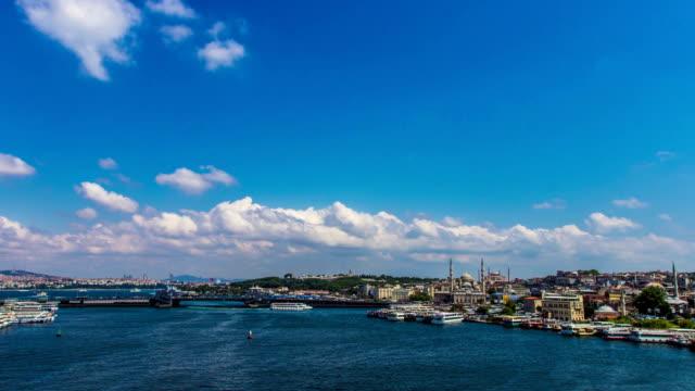 golden horn in istanbul - timelapse video