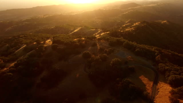 Golden Hour Over California Hills video