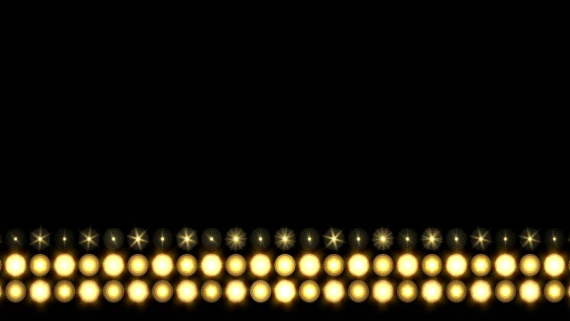 stockvideo's en b-roll-footage met gouden led dikke lijn verlichting achtergrond omhoog bewegen - floodlight