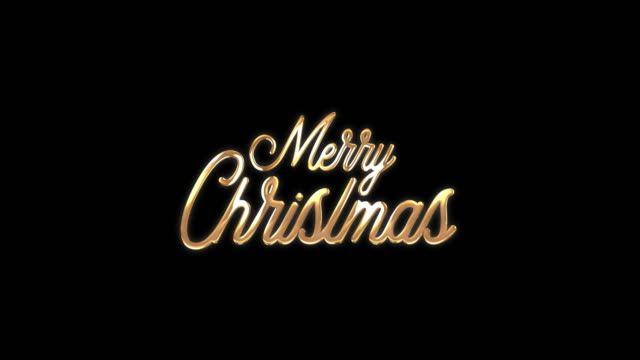 Golden Merry Christmas title Golden Merry Christmas title treedeo christmas stock videos & royalty-free footage