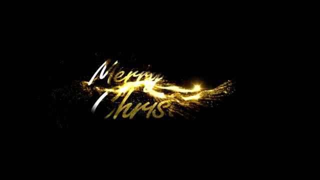 ゴールドのメリークリスマス - クリスマス点の映像素材/bロール