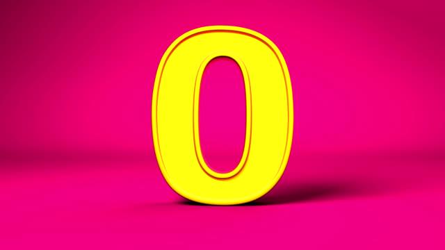 Golden number 0 (zero) - loopable video