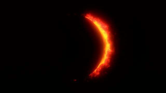 Golden / Orange Solar Eclipse Background