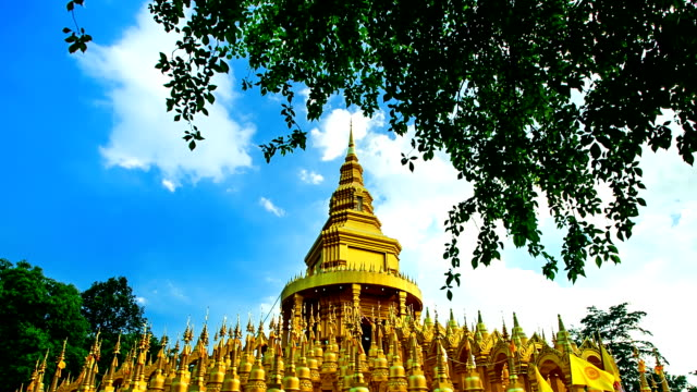 Golden Pagoda in Wat Pa sawangboon (Timelapse) video
