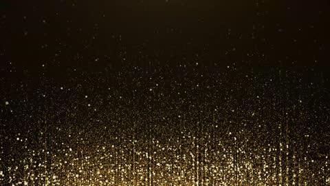stockvideo's en b-roll-footage met 4k gouden deeltjes bokeh stof licht stijgend, luxe deeltjesstreep de achtergrond van de lijn. - glamour
