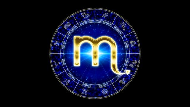 vidéos et rushes de or scorpio zodiacal symbole - ligue sportive