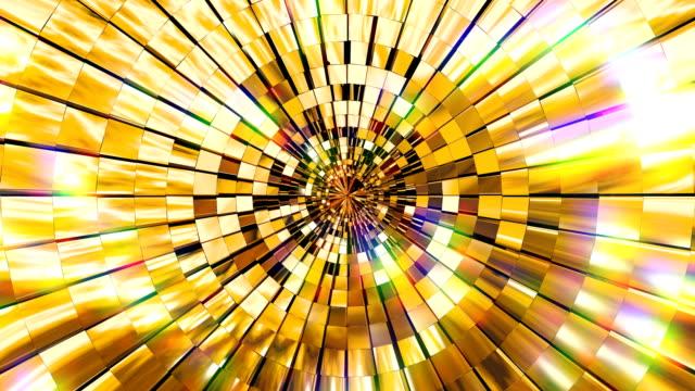 golden shining fantasy - узор калейдоскоп стоковые видео и кадры b-roll