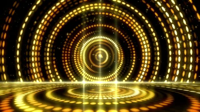 ゴールデン ステージ ライト賞背景 - ステージ点の映像素材/bロール
