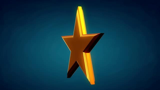 Golden star rotate 3D