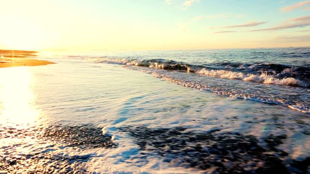 Golden Sunrise on Black Sand Beach video