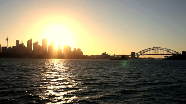 Golden Sunset in Sydney, Australia video