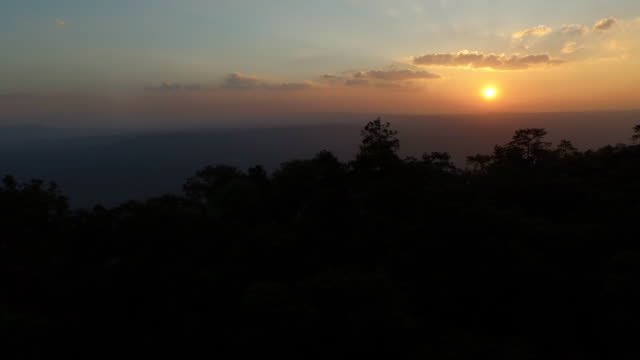 AERIAL: Golden sunset in the mountains video