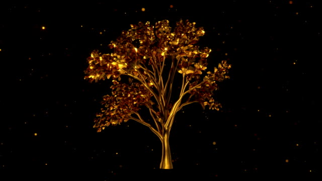 Golden Tree animation (HD) video
